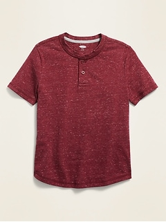 Jersey-Knit Henley for Boys