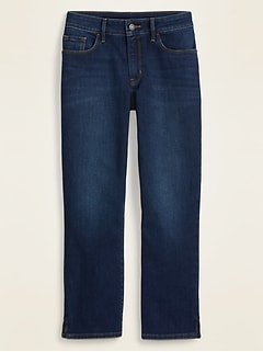Mid-Rise Dark-Wash Skinny Capri Jeans for Women