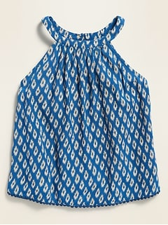 Printed Halter Cami for Girls
