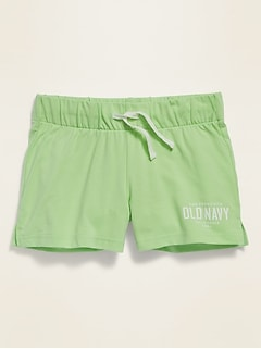 Drawstring Jersey Shorts for Girls