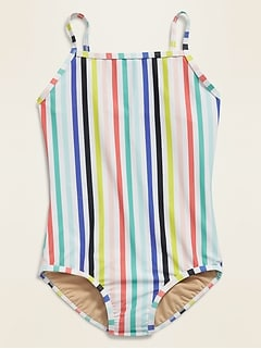 Square-Neck Swimsuit for Girls