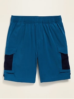 Quick-Dry Performance Cargo Shorts for Boys