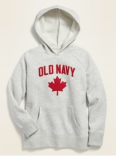 Canada Logo-Graphic Pullover Hoodie for Girls