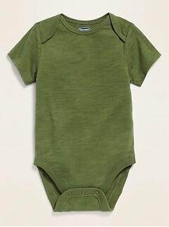 Unisex Short-Sleeve Jersey Bodysuit for Baby