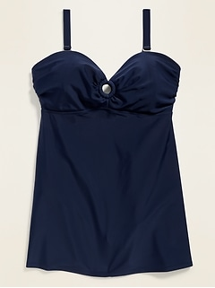 Secret-Slim Plus-Size Underwire Swim Dress