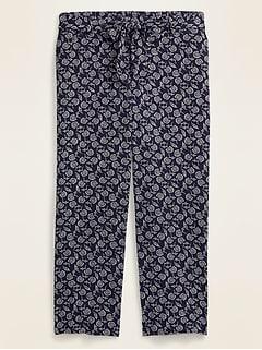 High-Waisted Plus-Size Tie-Belt Soft Pants
