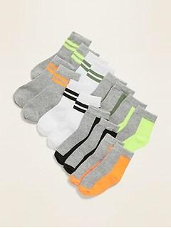 Color-Blocked Crew Socks 8-Pack for Toddler Boys & Baby