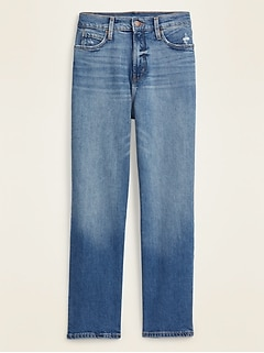 Extra High-Waisted Boyfriend Straight Jeans for Women