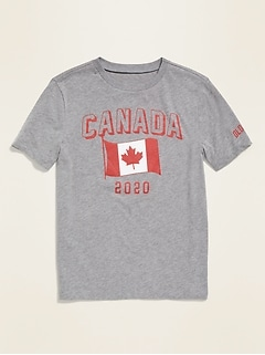 2020 Canada Flag Graphic Tee for Boys