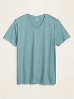 Soft-Washed V-Neck Tee for Men