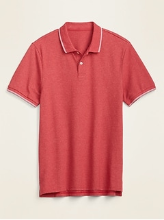 Moisture-Wicking Tipped Pique Pro Polo for Men
