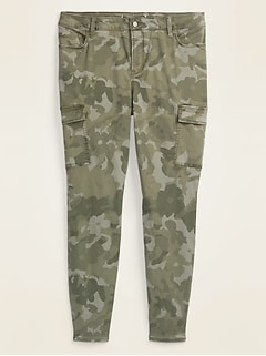 High-Waisted Secret-Slim Pockets Rockstar Camo Sateen Plus-Size Cargo Pants