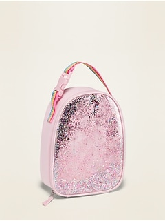 Pink Shake-Up Confetti Lunch Tote for Girls