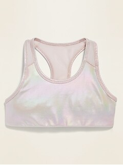 Soutien-gorge de sport Go-Dry à imprimé à dos nageur pour fille