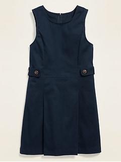 Robe d'uniforme sans manches pour fille