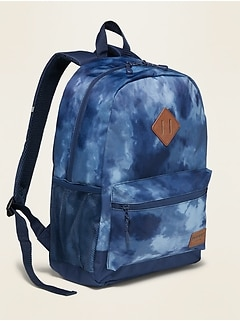 Patterned Canvas Backpack for Kids