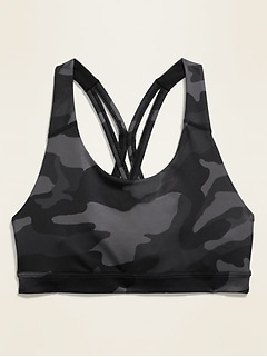 Medium Support Strappy Sports Bra for Women