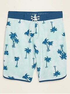 Printed Built-In Flex Dolphin-Hem Board Shorts for Men -- 10-inch inseam