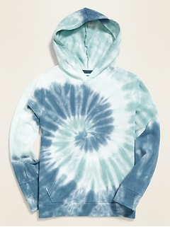 Garment-Dyed French Terry Pullover Hoodie for Boys