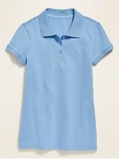 Polo d'uniforme en piqué résistant aux taches pour fille