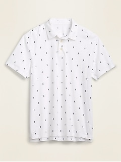 Soft-Washed Printed Jersey Polo for Men