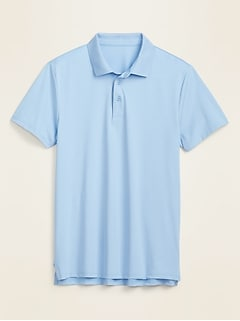 Luxe Dry-Quick Built-In Flex Short-Sleeve Polo for Men