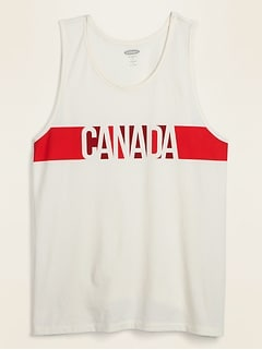 Soft-Washed Canada-Graphic Tank Top for Men
