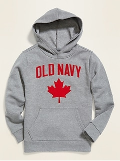 Flag Logo Graphic Pullover Hoodie for Boys