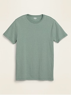Soft-Washed Micro-Stripe Crew-Neck Tee for Men