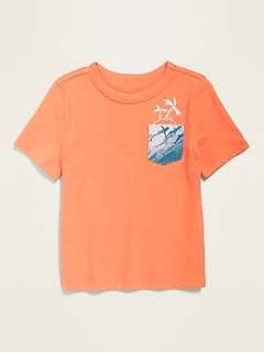 Crew-Neck Pocket Tee for Toddler