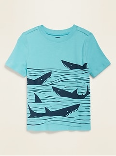 Graphic Unisex Crew-Neck Tee for Toddlers