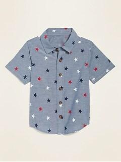 Americana-Print Oxford Shirt for Toddler Boys