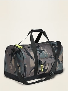 Patterned Canvas Duffel Bag for Kids