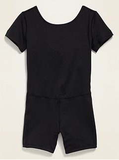 Go-Dry Short-Sleeve Unitard for Girls