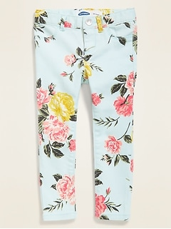 Ballerina Built-In Tough Floral Jeggings for Toddler Girls