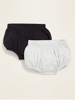 Unisex Jersey Ruffle-Back Bloomers 2-Pack for Baby