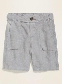 Linen-Blend Shorts for Toddler Boys