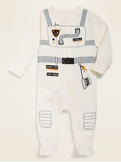 Unisex Costume Graphic Footed One-Piece for Baby