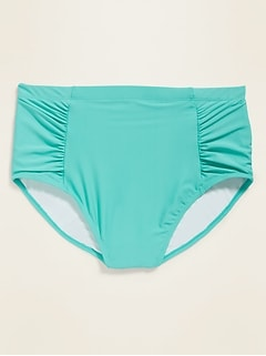 High-Waisted Secret-Slim Plus-Size Swim Bottoms