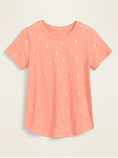 EveryWear Printed Slub-Knit Tee for Women
