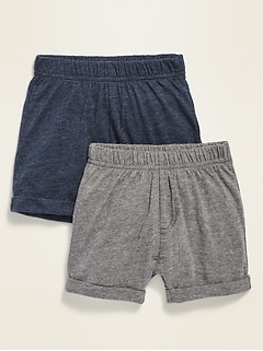 Jersey Pull-On Shorts 2-Pack for Baby
