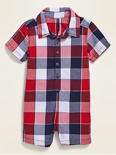 Patterned Polo One-Piece for Baby