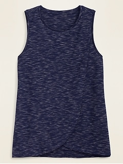 Maternity Rib-Knit Cross-Front Nursing Tank Top