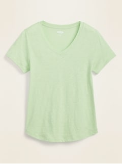 EveryWear Slub-Knit V-Neck Tee for Women