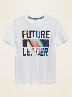 Gender-Neutral Graphic Crew-Neck Tee for Kids