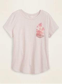 T-shirt à imprimé tout-aller pour femme