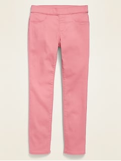 Pull-On Skinny Pop-Color Jeans for Girls