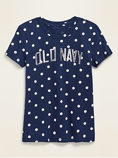 Logo-Graphic Crew-Neck Tee for Girls