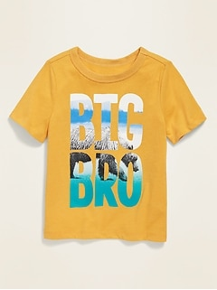 Puff-Print Graphic Crew-Neck Tee for Toddler Boys