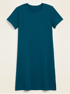 Fitted Crew-Neck Tee Dress for Women